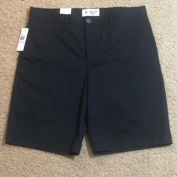 Original Penguin Other - Original Penguin Straight Fit Black Shorts